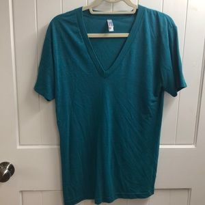 American Apparel teal tee.